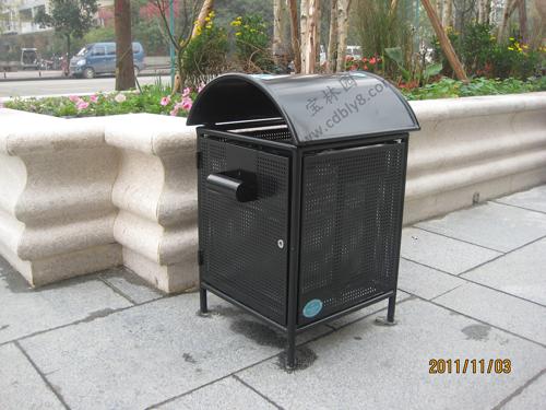 BB1-009全钢单桶垃圾桶