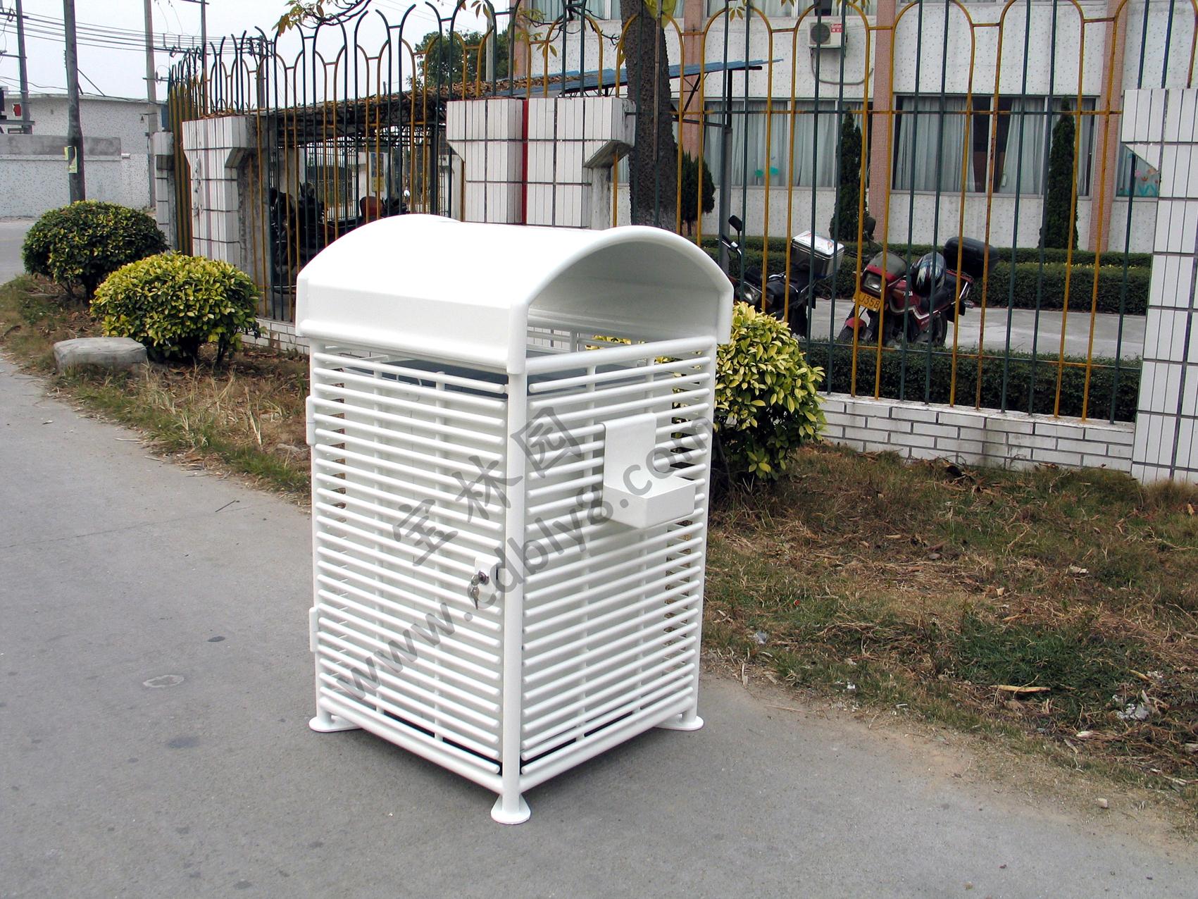 BB1-027全钢单桶垃圾桶