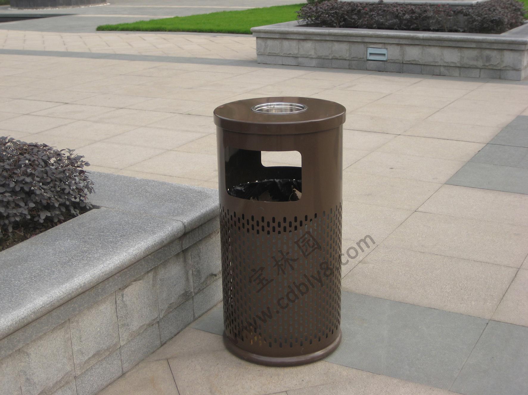 BB1-029全钢单桶垃圾桶