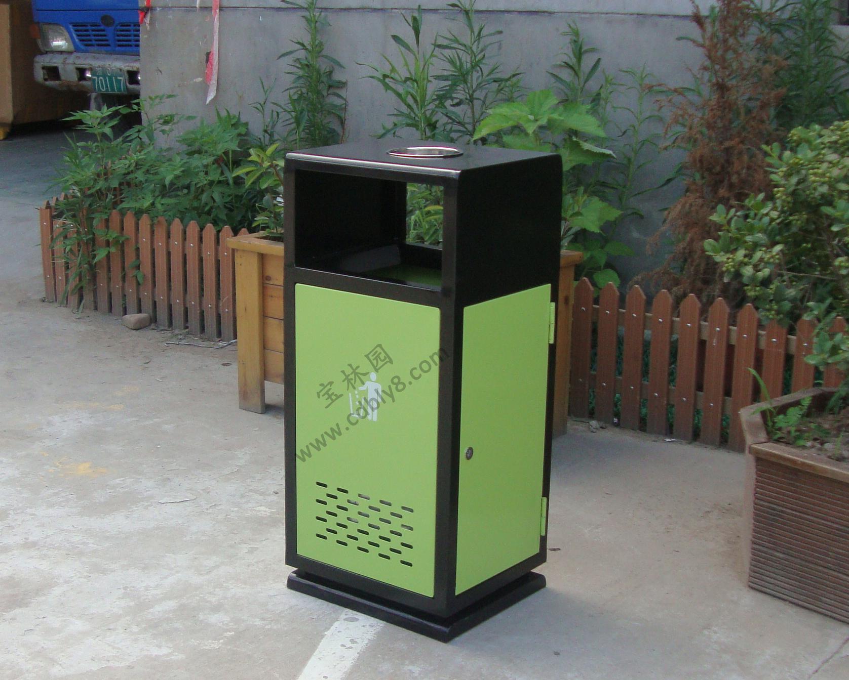 BB1-033全钢单桶垃圾桶